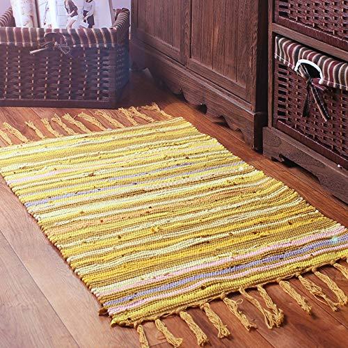 Japón y Corea del Sur algodón y Lino Moderno, Minimalista, Sala de Estar, Dormitorio, alfombras de Cocina, Telas Tejidas a Mano, esteras IKEA, Almohadilla Absorbente