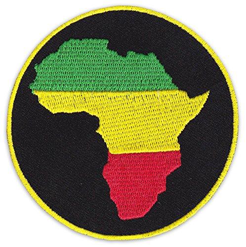 Free Africa Aufnäher Aufbügler Patch Black Music Soul Reggae Afrika Ragga Irie Party Festival (Klein) -