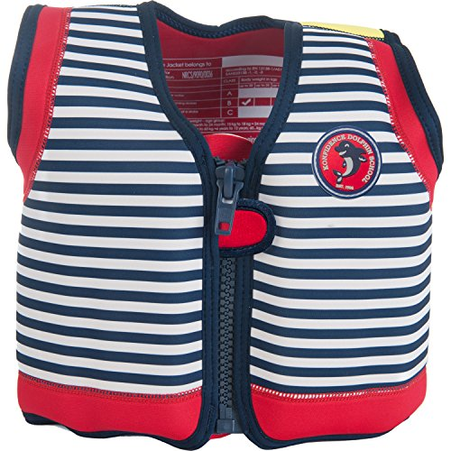 Die original Konfidence Unisex-Kinder Schwimmweste,  Mehrfarbig (Hamptons Navy Stripe), 4-5 Jahre