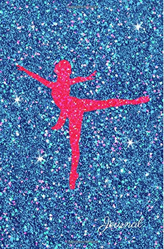Journal: Pink Ballerina Dancer Blue Purple Faux Glitter Lined Paper Dairy Notebook   Gift for Adults and Kids por MSquared Glitter Designs