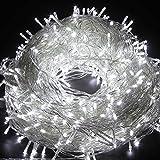 Fairy String Light, EONANT 10M 80 LED Lichterkette mit 2 Modus Arbeitsbeleuchtung Batterie Betrieben für Weihnachtsbaum Party Hochzeit Garten Dekorieren (Cold White)
