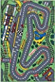 Childrens Playtime Rug 'Racetrack' 100 x 150 cm - Machine Washable - inexpensive UK light store.