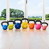 METIS Neopren Kettlebells – 4kg till 20 kg | Hemmaträning och Gym– Vikter för styrketräning | Gjutjärn Kettlebells