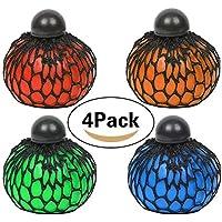 Anti-Stress-Ball Grape Ball, Jspoir Melodiz Mood Relief Spielzeug von 6,5cm, vier Farben Traube-Ball, Mesh Squeeze Toy, Depression Play, Decompression Greifer 4pcs (4 Farbe)