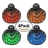 Anti-Stress-Ball Grape Ball, Jspoir Melodiz Mood Relief Spielzeug von 6,5cm, vier Farben...
