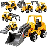 Yimosecoxiang Hot Funny Childrens Toys Kids Truck Mini Engineering Vehicle Car Model Excavator Boy Educational Toy Gift Random Style