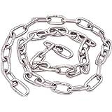 IQQI 304 M1.5 RVS ketting 5m, corrosie en roest preventie Perfect voor Anchor Chain Pet Dog Chain Kleding Opknoping en etc