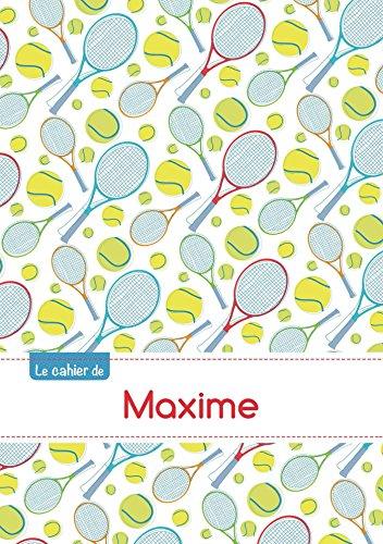 CAHIER MAXIME BLANC,96P,A5 TENNIS par Collectif