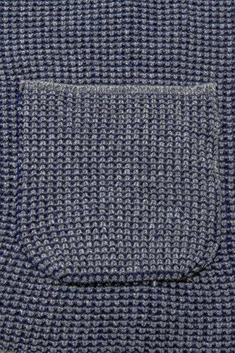 Modischer Strick Blazer von Kitaro, grau melange Dunkelblau