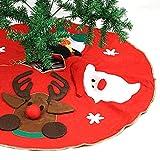 Naler Weihnachtsbaumdecke Weihnachtsbaum Unterlage 100 cm Christbaum Platz Decke