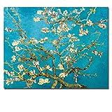 zgmtj Immagine della Parete della Stampa della Tela di Canapa della Pittura a Olio del mandorlo del Fiore Floreale Senza Cuciture per Il Salone