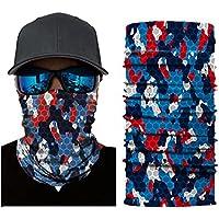 Leezo Gesicht Sun Mask Frauen Männer Camouflage Digital Gedruckte Multifunctional Headwear Nahtlose Sonnenschirm Schweißband Hairband Stirnbänder Schal für Laufen Wandern Radfahren Motorradfahren