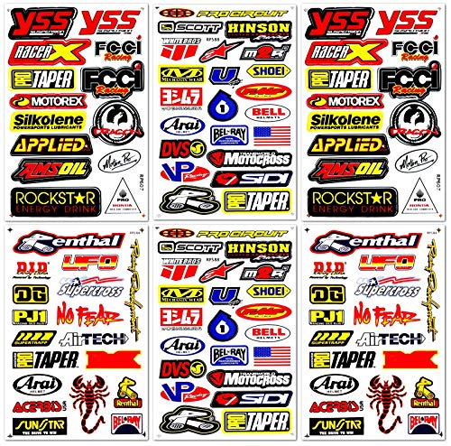 D6206 Best4Buy Motocross Supercross Dirt Bike Motorcycles MotoGP ATV Helm Racing Lot 6 Vinyl-Grafik-Aufkleber