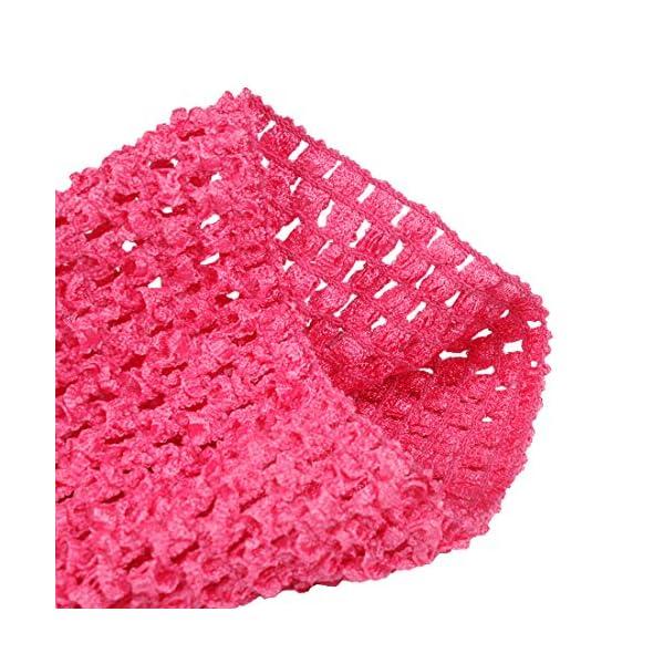 Kelis 6 Pulgadas Colores Surtidos bebé niña Crochet tutú Tubo Tops Pecho Wrap Wide Crochet Diademas Pack de 4 2