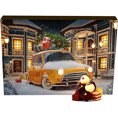 Hallingers 24 Pralinen-Adventskalender, mit/ohne Alkohol (300g) - It's Christmas