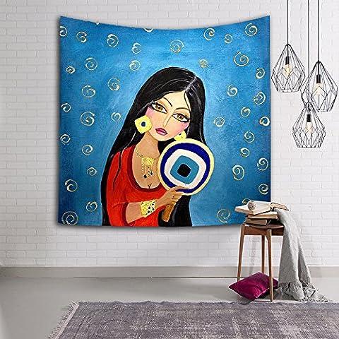 LA&NA Digtal gedruckte indische Mandala Wand hängende Tapisserie, Hippie Hippie