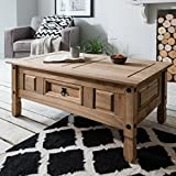 Corona Mexican Pine   Coffee Table   Rustic Design   with Drawer