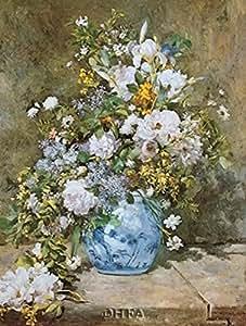 Pierre-Auguste Renoir – Bouquet de fleurs 1866 Impression d'art Print (21,59 x 27,94 cm)
