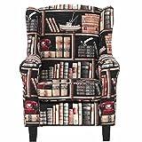 Butlers Chandler Ohrensessel Bibliothek im Landhausstil - Buchenholz massiv -
