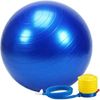 Wazdorf Anti-Burst Exercise Gym Ball 75cm with Pump, Anti-Slip Balance Stability Ball, Heavy Duty Fitness Yoga Ball, Extra Thick Swiss Birthing Ball, Excersice Equipment for Home, Exercise Ball
