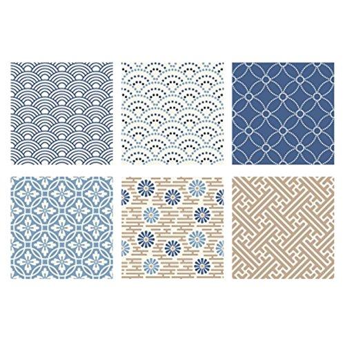 Mikolotuk 6pcs anti aceite azulejos prueba agua pegatinas