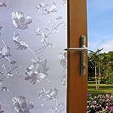 wollful adherencia estática opaco Cristal esmerilado película para ventana (no adhesivo reutilizable), 45cmx200cmFlower