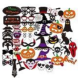 Boîte Halloween Horror Accessoires photo sur une canne crâne Magic Chapeau Citrouille Funny Batman Barbe Moustache Bearded Lèvres Chapeau Masques