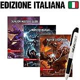 Fantàsia Starter Bundle: D&D Manuali Master,Mostri,Giocatore + Penna (ITA)