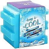 OICEPACK congélateur Blocs pour Cool Sacs durables, réutilisables Ice Packs Cube pour Enfant école refroidisseurs Boîtes Repas Petit et Fin Bleu Gel