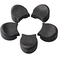 Siming 5pcs Rubber Clarinet Thumb Rest, Black Clarinet and Oboe Cushion Protector/Thumb Pad