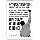 Famous Movie Quote by Rocky Balboa in White Wall Poster Prints Room Decoration Film Gloss Pictures Size A3 (42cm X 29.7cm)