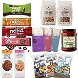 Snacks combo: Barritas, Patatas Fritas, Chocolates, Galletas, Pasta de trigo integral, Salsa de pasta (Pack of 15 artículos)