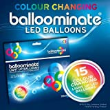 15x Balloominate Bianchi con led Multicolore - Palloncini Luminosi per Feste