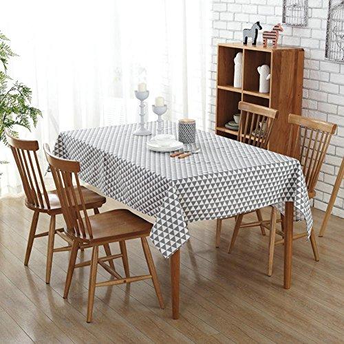 starnearby Modern Dreiecke Print Leinen Baumwolle Tischdecke Esstisch Sofa Cover Küche Home Decor, 55 x 55 inch
