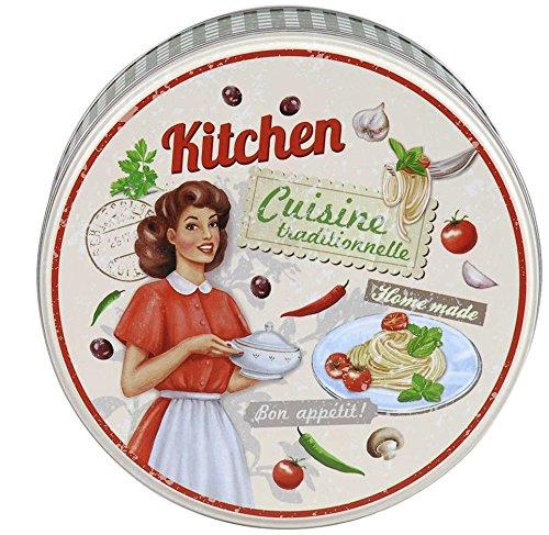 AVENUELAFAYETTE Boîte métal ronde vintage Kitchen (M2)