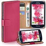 moex Samsung Galaxy S3 Mini | Hülle Pink mit Karten-Fach 360° Book Klapp-Hülle Handytasche Kunst-Leder Handyhülle für Samsung Galaxy S3 Mini S III Case Flip Cover Schutzhülle Tasche