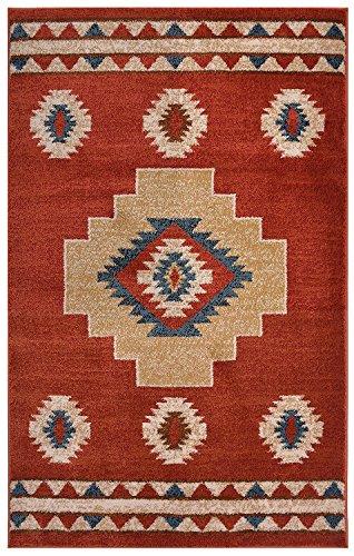 Orange 8x10 Bereich (RugStylesOnline Nevita Collection Southwestern Indianer Design Teppich Geometrisch Südwest 2 x 4 Orange (Terra))