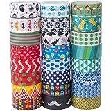 24rollos de Washi cinta de carrocero Set, cinta decorativa Craft Collection para DIY y de regalo, por mooker