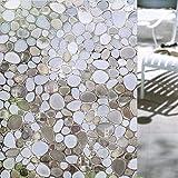 Concus-T estático se aferra el vinilo de primera calidad 3D estático piedras de cristal decorativo lámina para ventanas 45x200cm