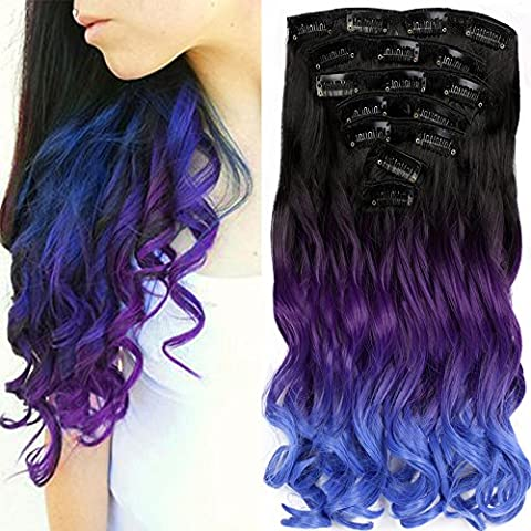 Neverland Three Colors Ombre Hair Extension Clip In Hair Extensions Triple Ombre Body Wave Synthetic Hair Curly