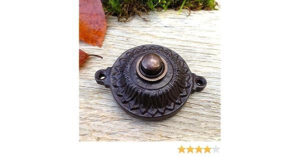 antikas/ /si/ècle r/éversible /él/égant comme Antique bouton de sonnette filaire sonnette sonnette de porte cisel/é
