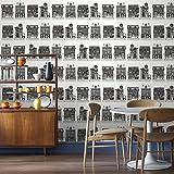 Graham & Brown Vlies Tapete Kollektion Modern Living, schwarz, 33-070