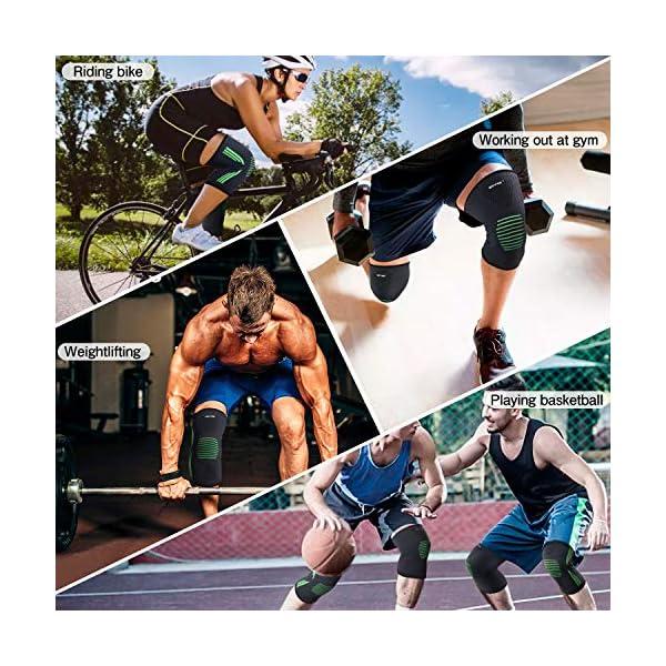 Ginocchiera Sportiva Compressione Ginocchio - Tutore Ginocchio Legamenti Ginocchiera Ortopedica Rotulea Elastica Design… 4 spesavip