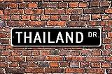 Aersing Funny Metall Schilder Thailand Geschenk Schild Souvenir Thailand Native Thailand Urlaub Momento Garage Home Yard Zaun Auffahrt Street Decor