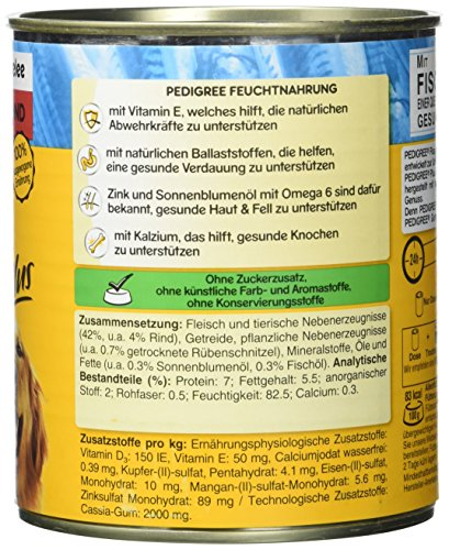Pedigree Adult Plus Hundefutter Fischöl – Rind in Gelee, 12 Dosen (12 x 800 g) - 4