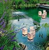 Wenko 8522500 Lichtertüte LUMINARIA Wasserlichter - 4-teilig, Windlicht, Zellstoff, 11 x 18 x 11 cm, Weiß