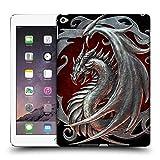 Head Case Designs Offizielle Christos Karapanos Silber Talisman Drachen 2 Ruckseite Hülle für iPad Air 2 (2014)