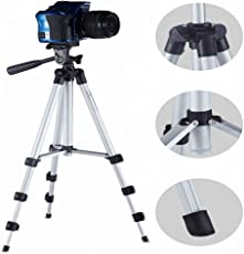 Eloies 40.2 inch Portable Adjustable Tripod with Three-Dimensional Head and Quick Release Plate for Canon Nikon Sony Cameras, Camcorders, Smartphone Shooting