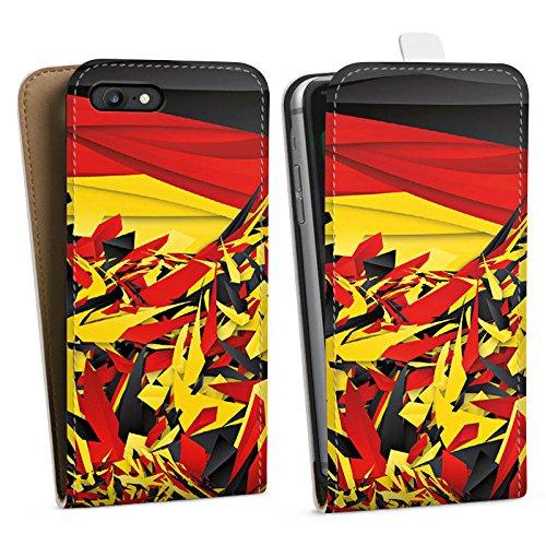 Apple iPhone X Silikon Hülle Case Schutzhülle Deutschland Flagge Muster Downflip Tasche weiß