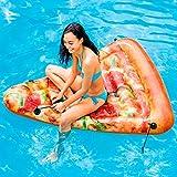 Bavaria Home Style Collection Matratze - Luftmatratze - Pizza - Pizza Stück - für absoluten Badespaß ! Größe aufgeblasen: ca. 175 x 145 cm Badespaß
